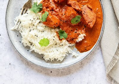 Chicken Tikka Masala and rice